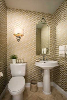 Acanthus and Acorn: Client's New Powder Room Revealed!