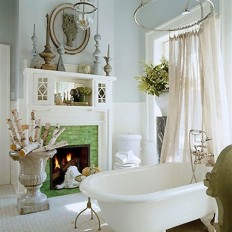 Inspiration: Fireplaces in the Bathroom | Apartment Therapy