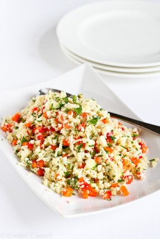 Grated Cauliflower Salad with Ginger Lime Dressing | Cookin' Canuck