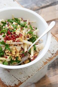 Jicama, Apple, and Pomegranate Salad with Raspberry Dijon Vinaigrette