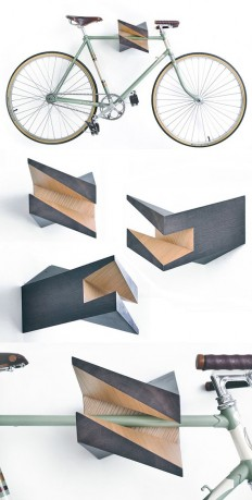 "Oak Wood Bike Hanger ""Iceberg"" by Woodstick Ltd"