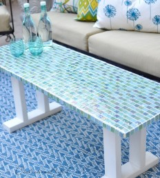 Centsational Girl » Blog Archive DIY Tile Outdoor Table - Centsational Girl