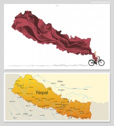 FPO: Ride On, Nepal (Fundraising Print)