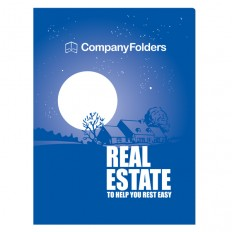 Folder Template: Peaceful Night Real Estate CD Folder Design Template