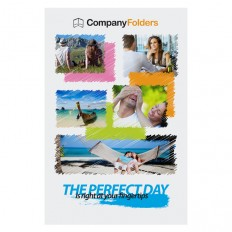 Free Template: Perfect Day Travel Documents Folder Design