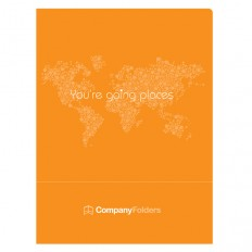 Folder Template: Orange Travel Agent Folder Design Template