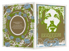 Graffiti Jesus with Roses - Presentation Folder Design Template