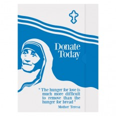 Charity Presentation Folder Template with Mother Teresa Design