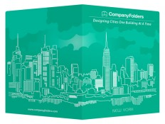 Free New York City Skyline Vector Presentation Folder Template