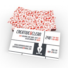 Creative & Clean Folder and Business Card - Free AI Template