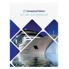 Free Template: Cruise Ship Adventure Presentation Folder Design