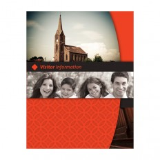 Happy Church Visitor Folder Packet & Card Template - Free Templates