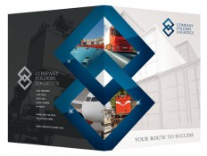 Corporate Folder Design Template PSD: Blue Diamond Logistics