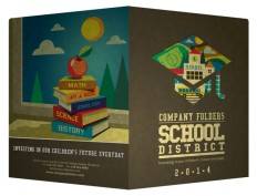 School District Pocket Folder Design Template [Free PSD]