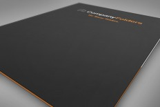 Close-Up Front Cover Folder Mockup Template (Free PSD)