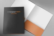 Front & Inside Corporate Folder Mockup Template (Free PSD)