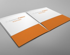 Inside View Two Pocket Folder Mockup Template (Free PSD)