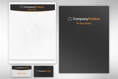 Free PSD: Folder, Letterhead & Business Card Mockup Template