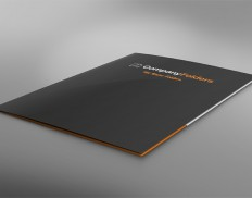 Low Angle Presentation Folder Mockup Template (Free PSD)