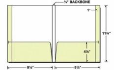 "Custom Printed Reinforced 1/4"" Backbone 2 Pocket Folder"