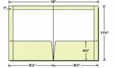 Custom Printed Top/Side Reinforced Presentation Folder