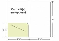 Custom Printed Left Pocket Gift/Key Card Holder