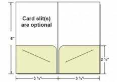 Custom Printed 2 Pocket Key / Gift Card Holder