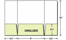 Custom Printed Tri-Panel 3 Pocket Gatefold Presentation Folder