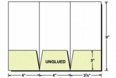 Custom Printed 4x9 Tri-Panel 3 Pocket Presentation Folder