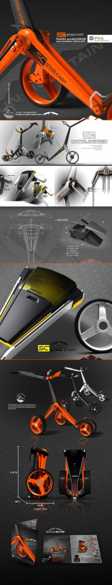 SUN MOUNTAIN Starcart concept on Behance Designed by IOTA Design | Products | Pinterest