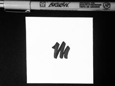 """simple """"m"""" by Carlos Lujan"""