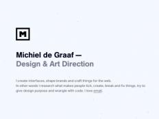 michieldegraaf.com by Michiel de Graaf