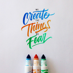 Crayola & Brushpen Lettering Set 2 on
