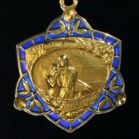 French Art Nouveau Pendant Plique A Jour by adinantiquejewellery