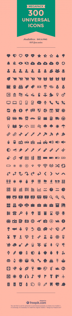 300 amazing free universal SVG & PNG icon set | Creative Nerds