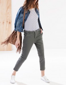 Chinos with belt - TROUSERS - WOMAN | Stradivarius Serbia