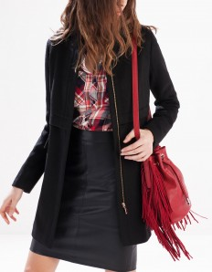 Structured wool coat - JACKETS - WOMAN | Stradivarius Serbia