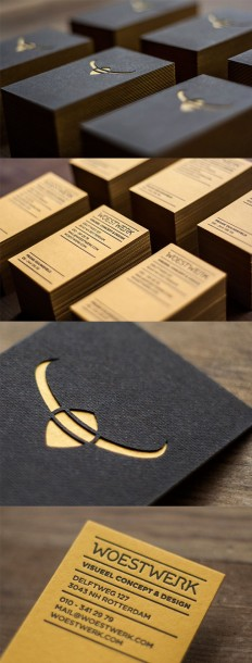 Multi Textured And Layered Die Cut Letterpress Business Card| CardObserver