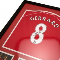 Liverpool F.C. Gerrard Signed Shirt (Framed), - Shirts