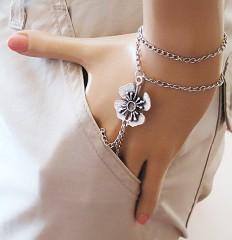 slave bracelet flower bracelet Hand Bracelet Hand by selenayy