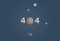 404 error page. Atech psd template on Inspirationde