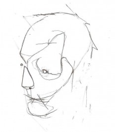 HeadSketch1 by ~AUTR3 on deviantART in Illustration & Painting