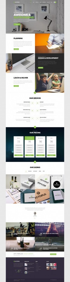Octopus – Multipurpose Business WordPress Theme on Inspirationde