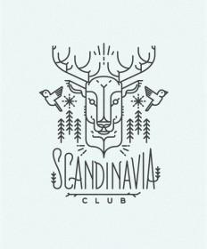 Scandinavia club illustration in Illustration