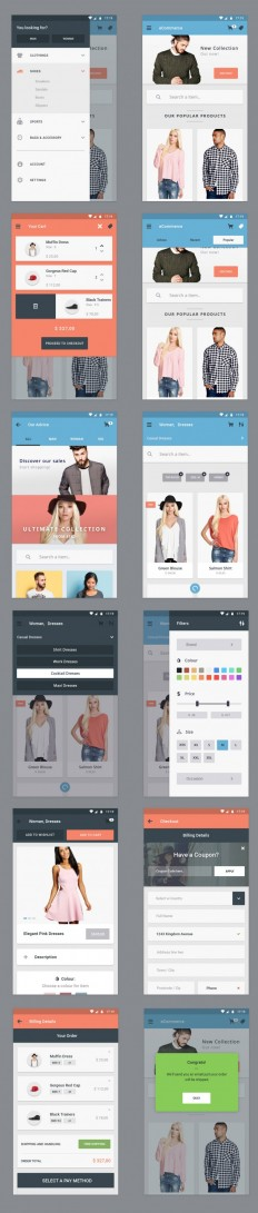 Free Ecommerce App UI Designs on Inspirationde