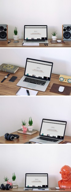 MacBook Workspace MockUp | GraphicBurger
