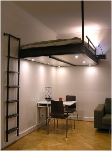 Loft bed from the Swedish company Compact-living on Inspirationde