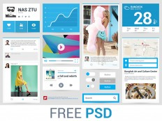 Freebie PSD : Flat Ui by NAS