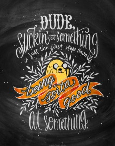 Inspirational quote lettered by Casey Ligon. on Inspirationde