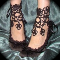 Style / In Bloom Ankle Corsets Tatted Lace Accessories by TotusMel - wanelo